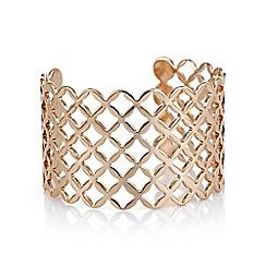 Mood - Rose gold lattice cut out cuff