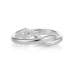 Mood - Silver knotted bangle
