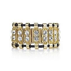 Mood - Gold crystal chunky toggle bracelet