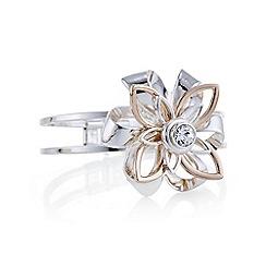 Mood - Two tone crystal floral bracelet