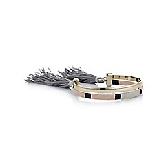 Mood - Multi colour woven tassel cuff bracelet
