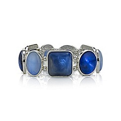 Mood - Blue tonal mixed shape bracelet