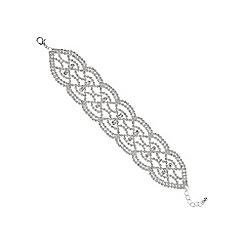 Mood - Silver crystal diamante cut out bracelet
