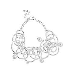 Mood - Silver circle pearl bracelet