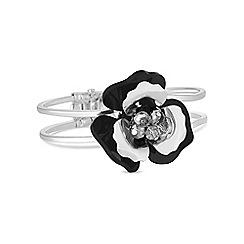 Mood - Black beaded flower bracelet