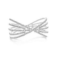 Mood - Silver diamante cuff bracelet