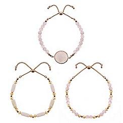Mood - Pink stone bracelet set