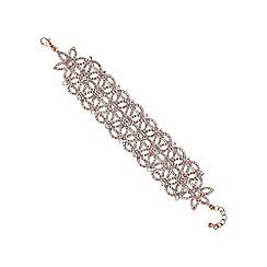 Mood - Rose gold floral diamante bracelet