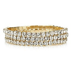 Mood - Gold diamante bracelet set