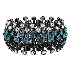 Mood - Blue crystal row bracelet