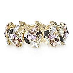 Mood - Multi tone crystal cluster bracelet