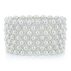 Mood - Silver pearl cuff bracelet