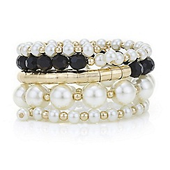 Mood - Pearl and bead coil bracelet