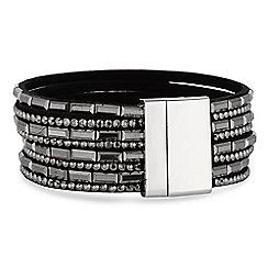 Mood - Black multi row crystal bracelet