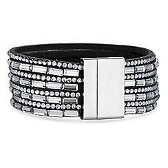 Mood - Grey multi row crystal bracelet