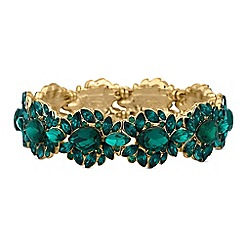 Mood - Green crystal ornate bracelet