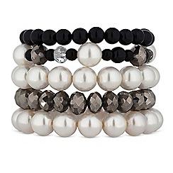 Mood - Monochrome pearl bracelet set