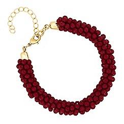 Mood - Red cluster bead bracelet