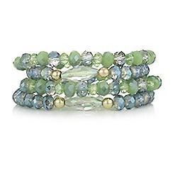 Mood - Green beaded bracelet set