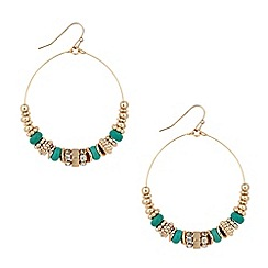 Butterfly by Matthew Williamson - Designer large mixed bead hoop earring