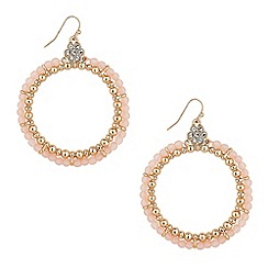 Butterfly by Matthew Williamson - Designer large pink stone hoop earring