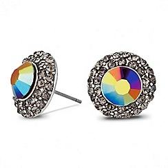 Butterfly by Matthew Williamson - Designer aurora borealis crystal surround stud earring