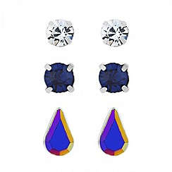 Butterfly by Matthew Williamson - Designer mixed stone stud earring set