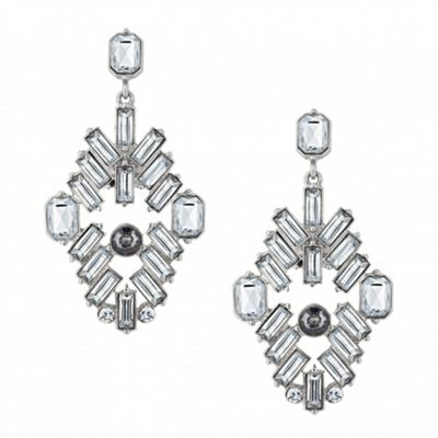 Butterfly by Matthew Williamson Designer baguette stone chandelier earring - . -