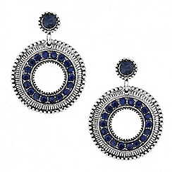Butterfly by Matthew Williamson - Designer blue crystal disc drop earring