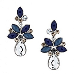 Butterfly by Matthew Williamson - Designer mixed blue stone chandelier earring