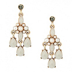 Butterfly by Matthew Williamson - Designer pearl and teardrop chandelier earring