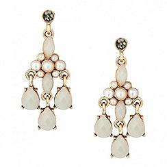 Butterfly by Matthew Williamson - Designer pearl and teardrop chandelier earring