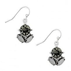Butterfly by Matthew Williamson - Designer triple stone cluster drop earrings