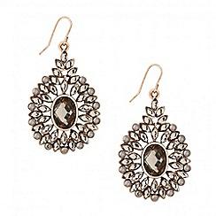 Butterfly by Matthew Williamson - Designer statement grey stone set chandelier earring