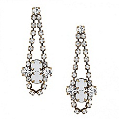 Butterfly by Matthew Williamson - Designer opalesque and crystal drop earring
