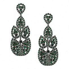 Butterfly by Matthew Williamson - Designer embellished green chandelier earring