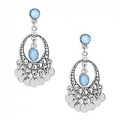 Butterfly by Matthew Williamson - Designer blue oval and mini coin drop earring