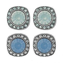 Butterfly by Matthew Williamson - Designer set of two blue opalesque stud earrings