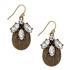 Butterfly by Matthew Williamson - Designer crystal cluster drop earring