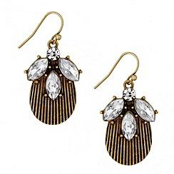 Butterfly by Matthew Williamson - Designer crystal cluster drop earring