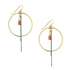 Butterfly by Matthew Williamson - Designer hoop and chain tassel earring