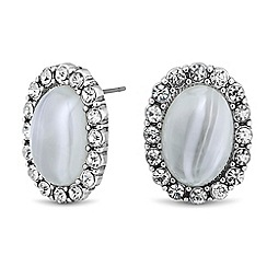 Butterfly by Matthew Williamson - Designer marbleised crystal surround stud earring