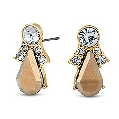 Butterfly by Matthew Williamson - Designer metallic peardrop stud earring