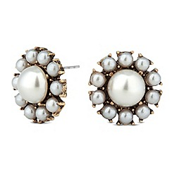 Butterfly by Matthew Williamson - Designer pearl surround round stud earring