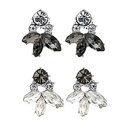 Butterfly by Matthew Williamson - Designer set of two cluster stud earrings