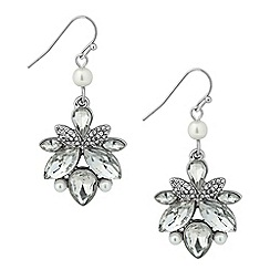 Butterfly by Matthew Williamson - Designer crystal navette and pearl drop earring