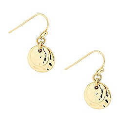 Butterfly by Matthew Williamson - Designer textured double coin drop earring