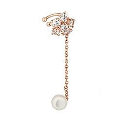 Butterfly by Matthew Williamson - Online exclusive designer flower and pearl ear cuff