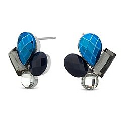 Butterfly by Matthew Williamson - Designer blue mixed stone stud earring