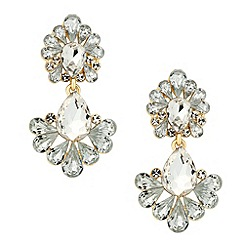 Butterfly by Matthew Williamson - Designer gold crystal peardrop earring